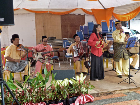 Hiasan Budaya performs in Town Square, Melaka, Malaysia.