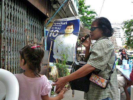 This lady was so amped! Bangkok, Thailand.