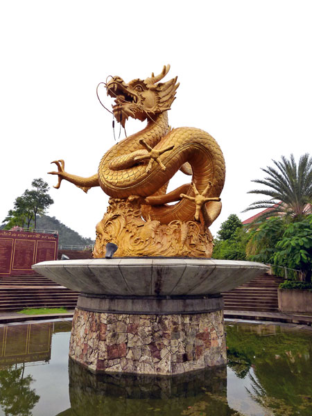 The Menacing Dragon of Golden Supremacy in Phuket Town, Thailand.