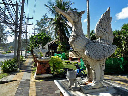 Big birds guard Karon beach in Phuket, Thailand.