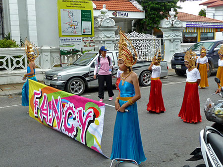 Fancy indeed at a school parade in Phuket Town, Thailand.
