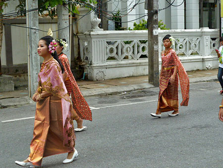 Dress for success at a school parade in Phuket Town, Thailand.