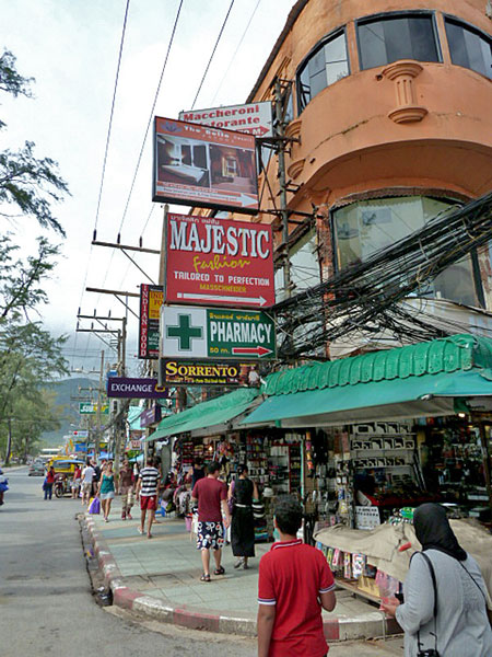 Just your average sign-filled corner in Patong, Phuket, Thailand.