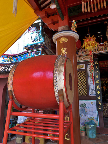 A big-ass drum at Saeng Tham Temple in Phuket Town, Thailand.