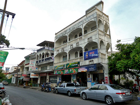 Another row of 19th century Sino-Portuguse shopshouses in Phuket Town, Thailand.