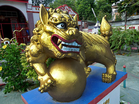 Greetings from the Thye Guan Tong Shrine in Phuket Town, Thailand.