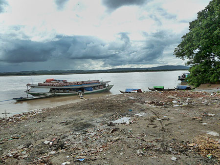 Welcome to the trash-strewn banks of the Ayeyarwady river in Mandalay, Myanmar.