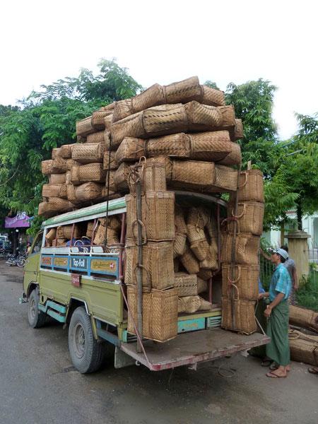 That guy is a basket case. Mandalay, Myanmar.