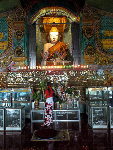 A Buddhist shrine on top of Mandalay Hill, Myanmar.