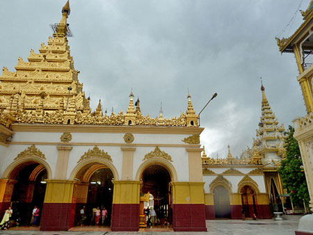Part of the Mahamuni Pagoda compound in Mandalay, Myanmar.