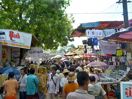 Just one small sliver of the massive street fair at the nat pwe in Taungbyone, Myanmar.