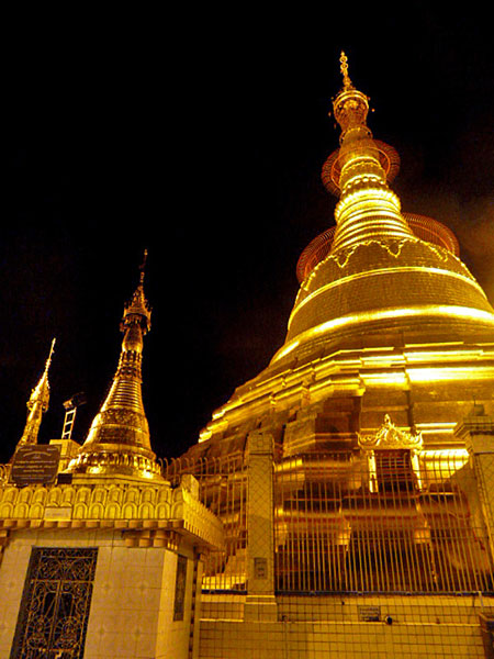 The glistening gold Botataung Pagoda in Yangon, Myanmar.