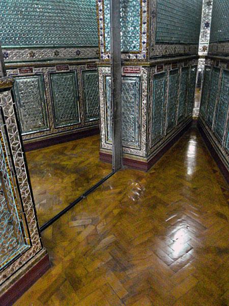 Dazzling chambers in Botataung Pagoda in Yangon, Myanmar.