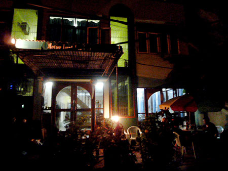 Nighttime is the right time at the Motherland Inn II in Yangon, Myanmar.