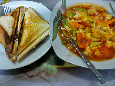Sweet and sour at Motherland Inn II in Yangon, Myanmar.