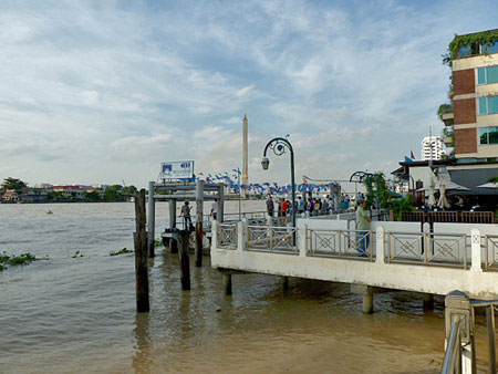 The Phra Ahthit pier on the Chao Phraya river in Bangkok, Thailand.