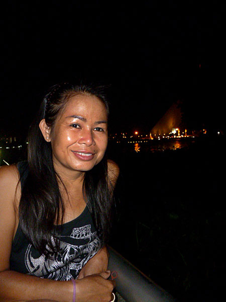 A lady named Pim who also befriended me in Santichaiprakarn Park on the Chao Phraya river in Bangkok, Thailand.