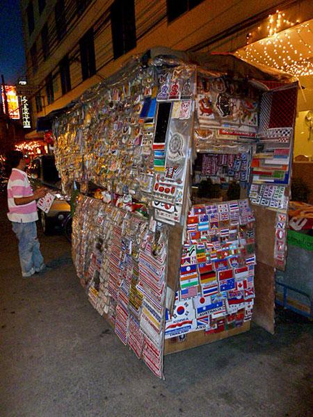 Another over-the-top sticker cart in Banglamphu, Bangkok, Thailand.