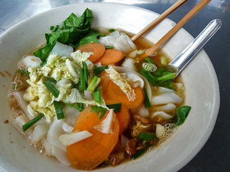 Vegatable soup at a food cart in Banglamphu, Bangkok, Thailand.