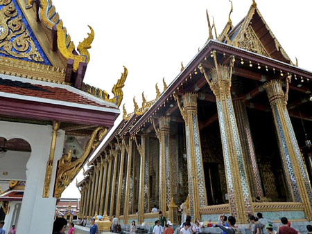 The Temple of the Emerald Buddha in Bangkok, Thailand.
