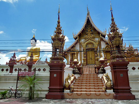 The spectacular Mornthean Temple in Chiang Mai, Thailand.