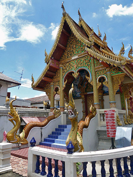 One of the insanely nice-looking temples at Wat Kuan Kama in Chiang Mai, Thailand.