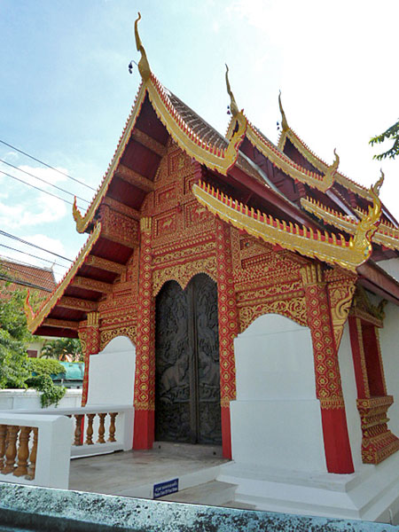 Wat Phabong in Chiang Mai, Thailand.