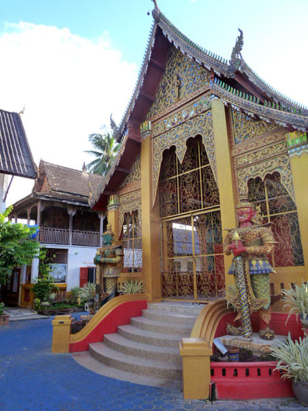 Wat Sai Mun Muang Temple in Chiang Mai, Thailand.