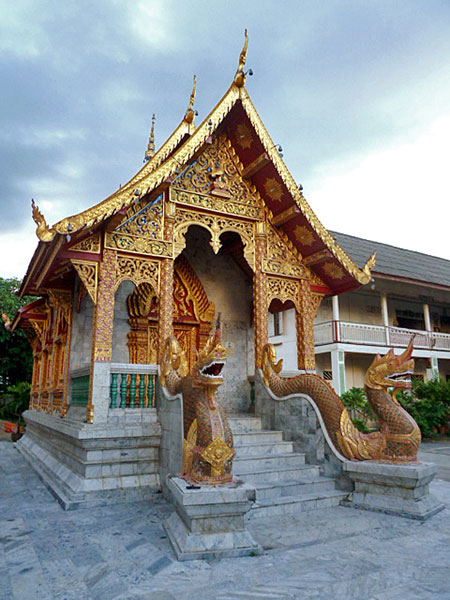 An auxiliary temple at Wat Thung Yu Temple in Chiang Mai, Thailand.