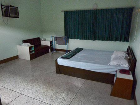 A big-ass room at the Little Bird Hotel in Damnoen Saduak, Thailand.