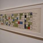 Iannis Xenakis, colorful graphic score, 1950s.