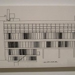 Iannis Xenakis, architectural rendering, late 1950s.