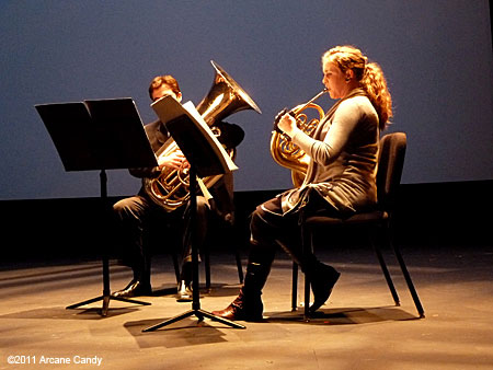 Trio Kobayashi and Anna Robinson perform Iannis Xenakis' Linaia-Agon (1972) at REDCAT.