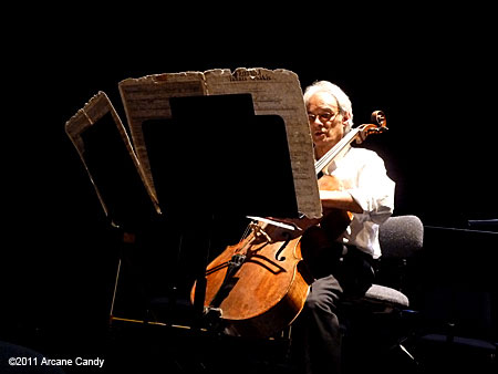 Rohan de Saram performs Iannis Xenakis' Nomos Alpha (1965-66) at REDCAT.