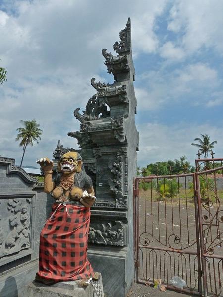 A Balinese Hindu split gate near the beach in Lovina, Bali, Indonesia.