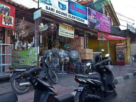 Storefronts in Kuta, Bali, Indonesia.