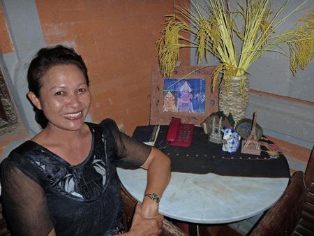 A.A. Istri Wirati at the Tetamian compound in Peliatan, Bali, Indonesia.