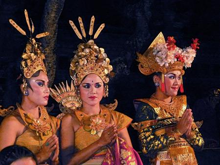 Chandra Wirabhuana at the Lotus Pond in Ubud, Bali, Indonesia.