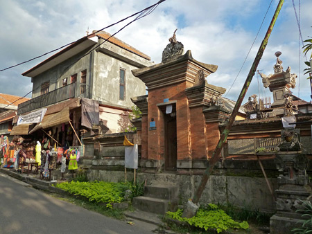 Another picturesque family compound gate in Ubud, Bali, Indonesia.