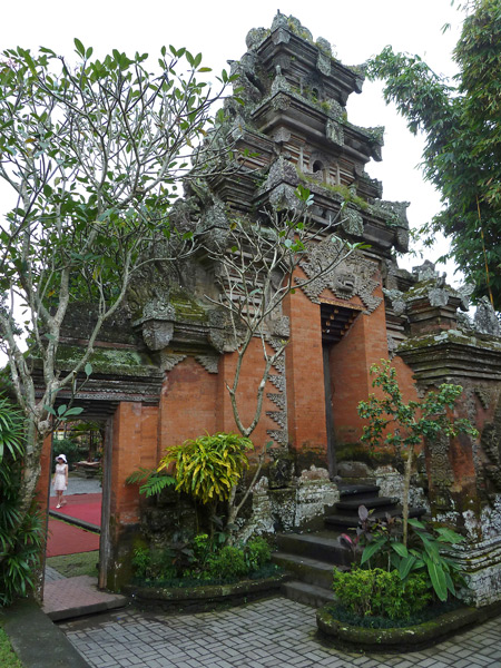 A not-so-common view from the inner courtyard of Ubud Palace in Ubud, Bali, Indonesia.