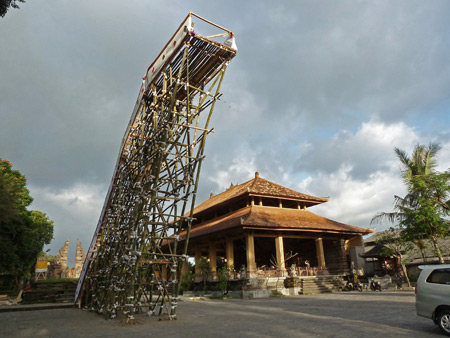 A royal cremation tower at Pura Dalem Puri in Ubud, Bali, Indonesia.