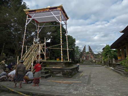 Another royal cremation ceremony structure at Pura Dalem Puri in Ubud, Bali, Indonesia.