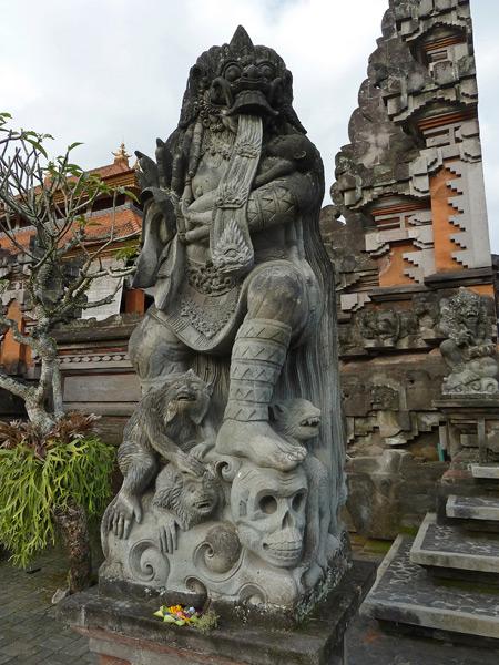 Pura Dalem Desa Pakraman Taman Kaja in Ubud, Bali, Indonesia.