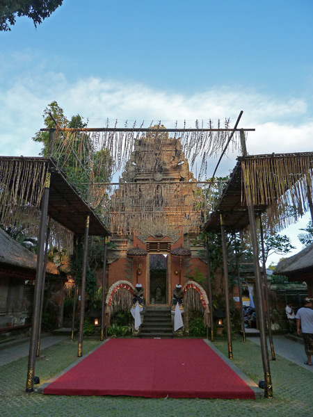 Look! Ubud Palace got all dolled-up for the royal cremation ceremony in Ubud, Bali, Indonesia.
