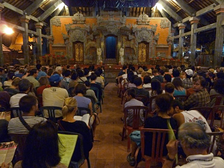 A full house at Ubud Palace in Ubud, Bali, Indonesia.