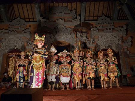 Sekaa Gong Jaya Swara at Ubud Palace in Ubud, Bali, Indonesia.