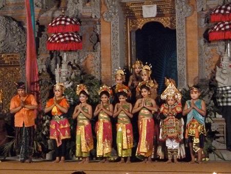 Sekaa Jegog Yowana Swara Ubud at Pura Dalem Ubud in Ubud, Bali, Indonesia.
