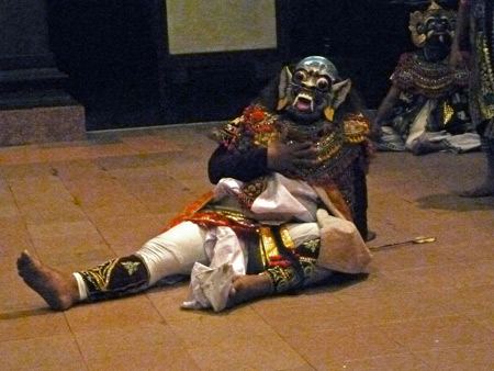 The Creature From the Black Lagoon? Nope, it's a Wayang Wong Ramayana performance at ARMA in Ubud, Bali, Indonesia.