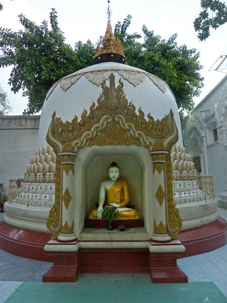 Buddha in a bell at Shwekyimyint in Mandalay, Myanmar.