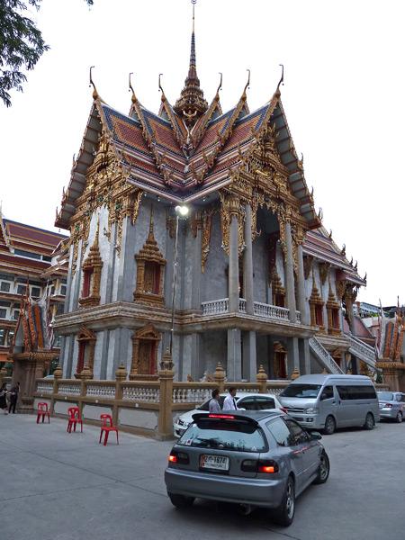 A gigantic Buddhist temple somewhere in Bangkok, Thailand.